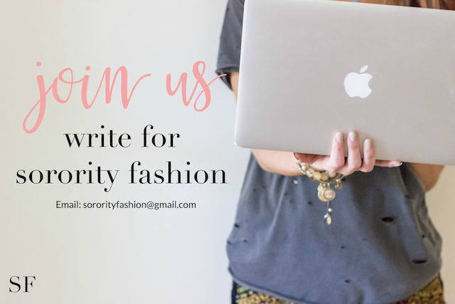 Write For SororityFashion.com