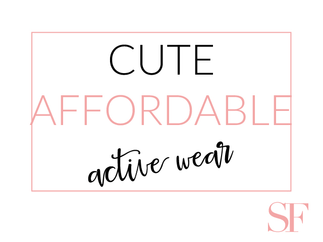 Cute Affordable Active Wear
